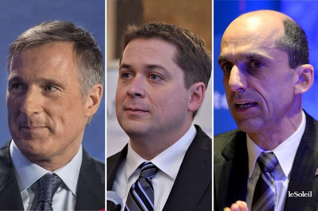 Maxime Bernier, Andrew Scheer et Steven Blaney... (Infographie Le Soleil)