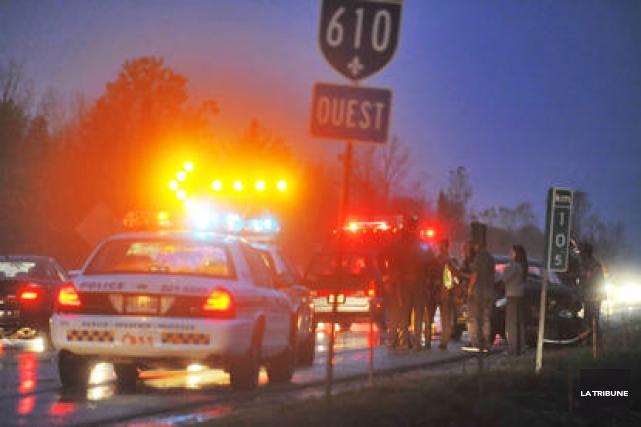 Deux accidents survenus coup sur coup sur l'autoroute... (Archives La Tribune, Jessica Garneau)