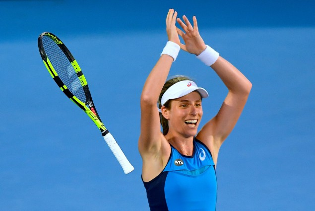 Johanna Konta a remporté le tournoi de Sydney... (Photo Dean Lewins, Reuters)