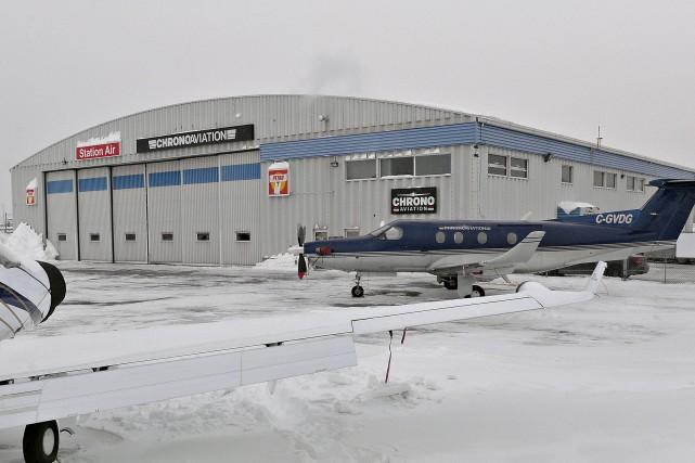 Chrono Aviation exploite ce hangar à l'aéroport de... (Le Soleil, Pascal Ratthé)
