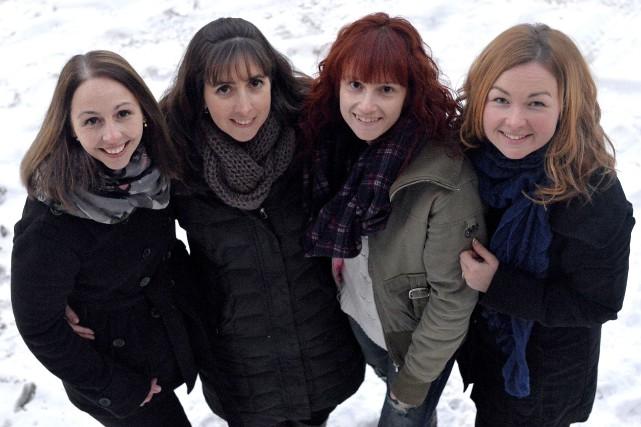 Les quatre «filles de la Course», Annie Letendre,... (Spectre Média, Maxime Picard)