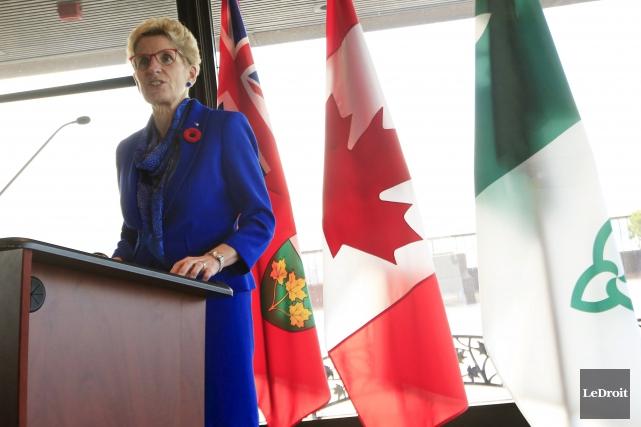 La premiere ministre de l'Ontario, Kathleen Wynne... (Simon Séguin-Bertrand, Archives Le Droit)