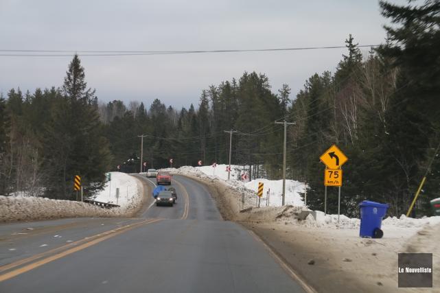 Diverses opérations de sensibilisation sur la route 155,... (Audrey Tremblay, Le Nouvelliste)