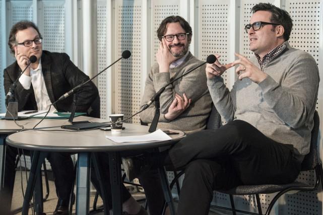 Les professeurs Harold Bérubé, François Furstenberg et François... (Spectre Média, Jessica Garneau)