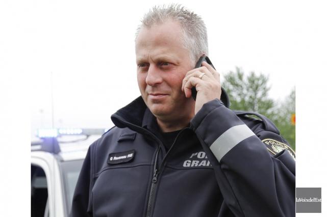 Le porte-parole du Service de police de Granby,... (Julie Catudal, archives La Voix de l'Est)