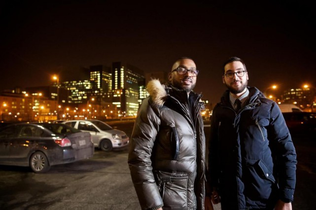 Omar Al Mounayer et David Pierre en avaient... (Photo André Pichette, La Presse)