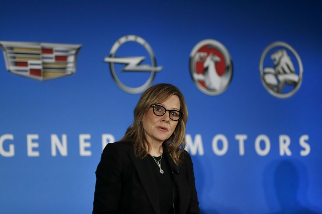 La présidente de General Motors, Mary Barra... (AP, Paul Sancya)