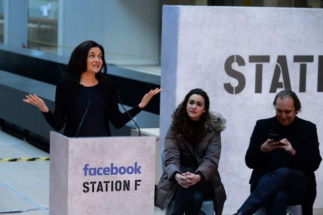 Sheryl Sandberg à Paris le 17 janvier 2017.... (AFP)