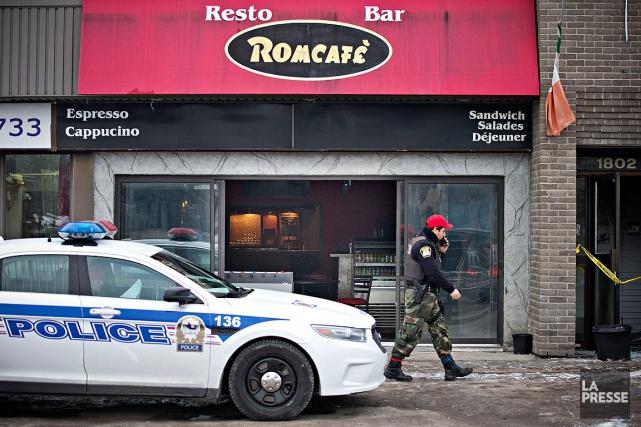 Les dommages au Romcafé, frappé ce matin par... (Patrick Sanfaçon, La Presse)