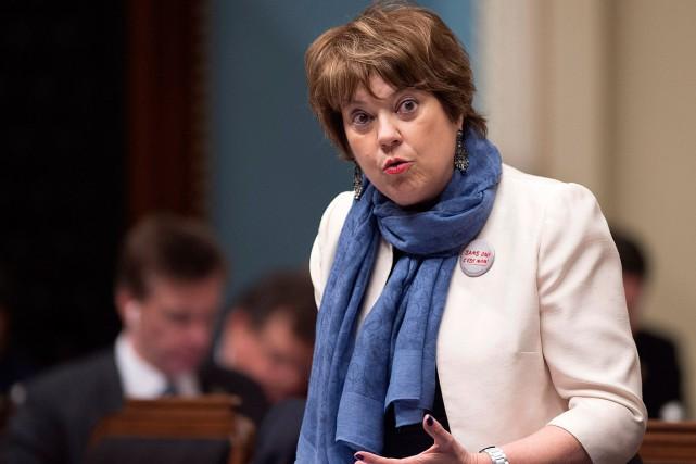 La ministre de l'Enseignement supérieur, Hélène David.... (Photo Archives La Presse canadienne)