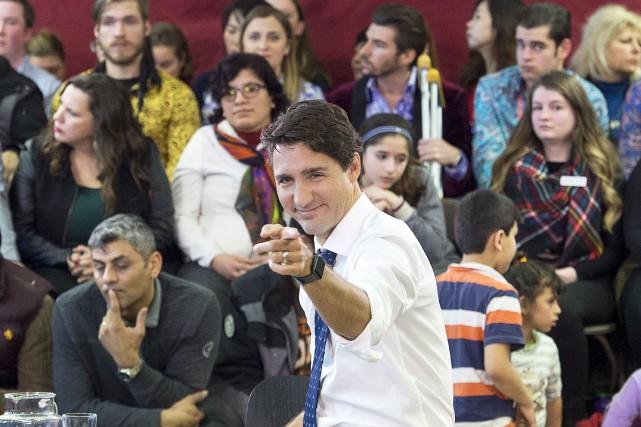 Le premier ministre Justin Trudeau a été talonné... (La Presse Canadienne, Andrew Vaughan)