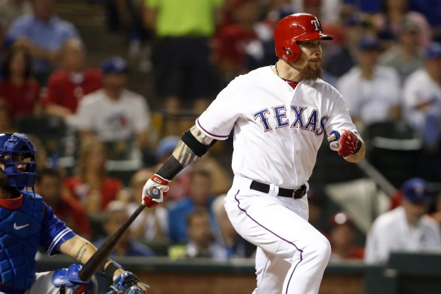 Josh Hamilton a connu ses meilleures saisons avec... (Photo Tim Heitman, archives USA Today Sports)
