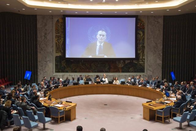 L'envoyé spécial des Nations unies, Nickolay Mladenov, a... (PHOTO Eskinder DEBEBE, AFP/ONU)