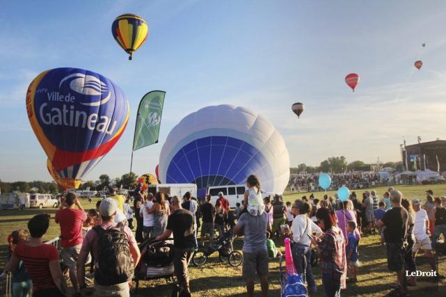 Le Festival des montgolfières recevra 520000$ en 2017.... (Etienne Ranger, Archives LeDroit)