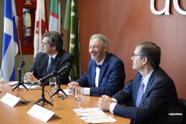 La nouvelle chaire de recherche a été officialisée... (Photo Le Quotidien, Jeannot Lévesque)
