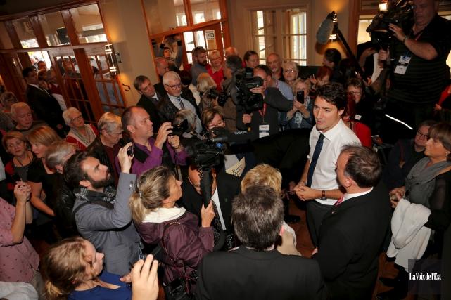 La dernière visite du chef libéral à Granby... (Alain Dion, archives La Voix de l'Est)