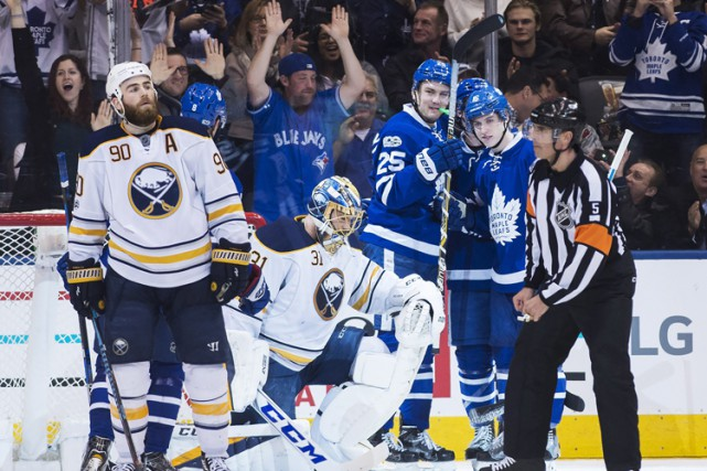 Auston Matthews a récolté un 22e but cette saison et les Maple Leafs de Toronto... (PHOTO PC)