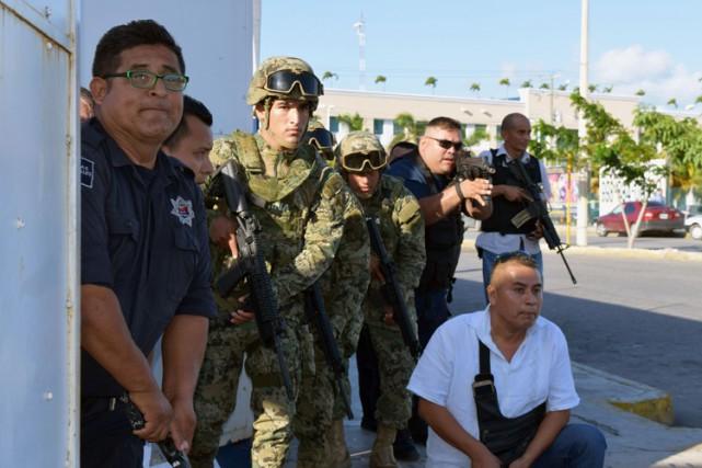 Le gouverneur de l'État du Quintana Roo a... (PHOTO AFP)