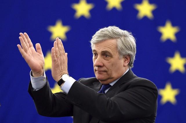 Antonio Tajani a enlevé mardi soir la présidence... (AFP, Frederick Florin)