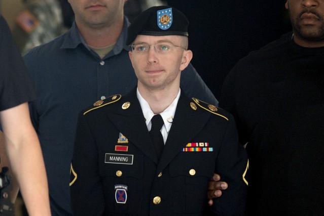 Chelsea Manning alors qu'elle était toujours un homme... (AFP, Saul Loeb)