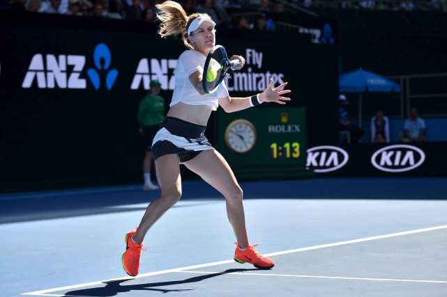 Eugenie Bouchard a battu la Chinoise Peng Shuai... (AFP, Peter PARKS)