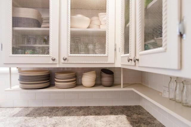 Dans la petite cuisine d'origine, qui a été... (Photo Olivier Pontbriand, La Presse)