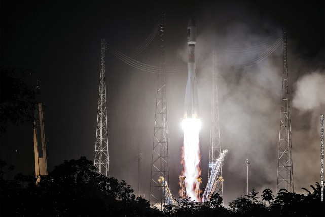 Jusqu'à présent 18satellites ont été lancés. Sur la... (STRINGER, CNES via AFP)
