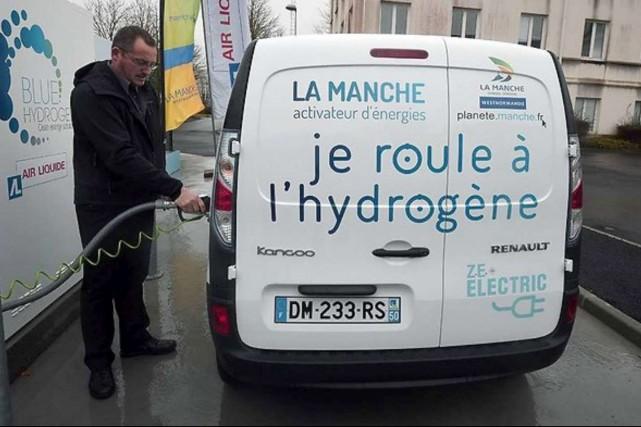En France, la première station hydrogène a été... (Photo : AFP)