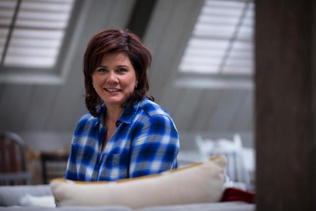 Marina Orsini fait une pause dans le studio... (Photo Olivier Jean, La Presse)