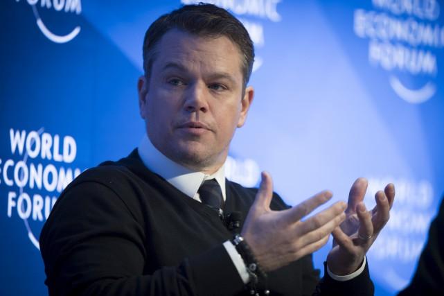 L'acteur Matt Damon est à Davos pour soutenir... (AP, Gian Ehrenzeller)