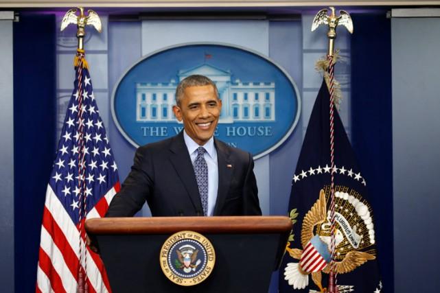 Barack Obama quitte le pouvoir nanti d'une cote... (PHOTO REUTERS)