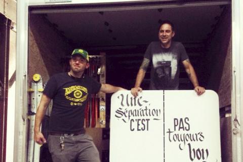 Le Granbyen d'origine Michaël Robert (à gauche) est... (Delphine Gélinas)