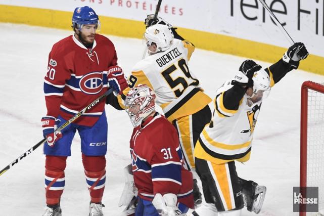 Les Penguins ont pris les devants au premier... (Bernard Brault, La Presse)