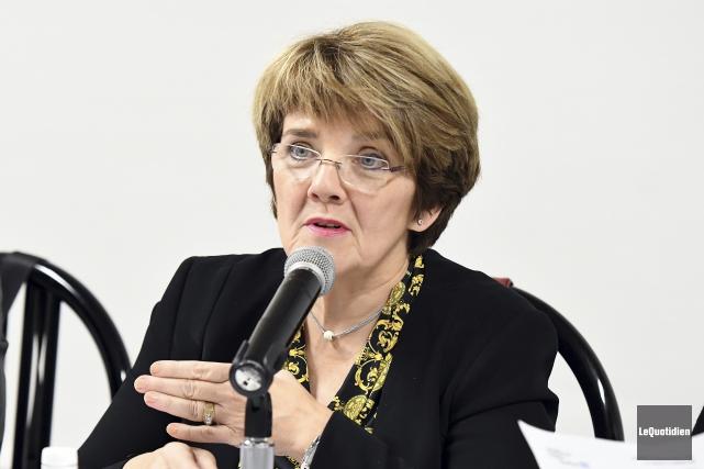 La présidente-directrice générale du CIUSSS du Saguenay-Lac-Saint-Jean, Martine... (Photo Le Quotidien, Rocket Lavoie)