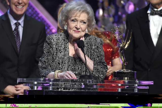 Betty White en avril 2015... (AP, Chris Pizzello)