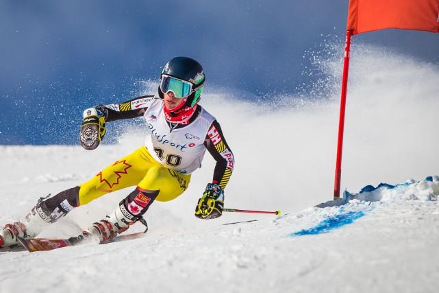 Alexis Guimond est monté sur la plus haute... (Courtoisie, Marcus Harman - Canada Alpin)