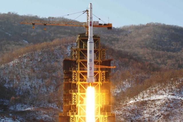 Un test de missile nord-coréen effectué en décembre... (PHOTO d'archives AFP/KCNA)