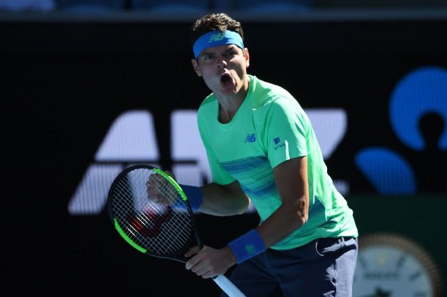 Milos Raonic affronteraGilles Simon au prochain tour.... (Saeed Khan, AFP)