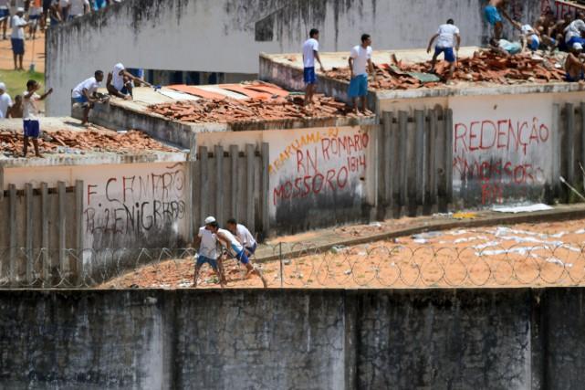 Sur les images de l'AFPTV, on pouvait voir... (PHOTO AFP)