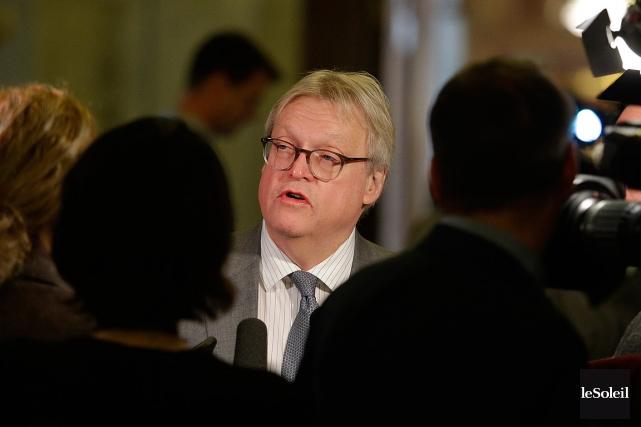 - La Presse - ministre Guetan Barrette, Quebec... (Photothèque Le Soleil, Pascal Ratthé)