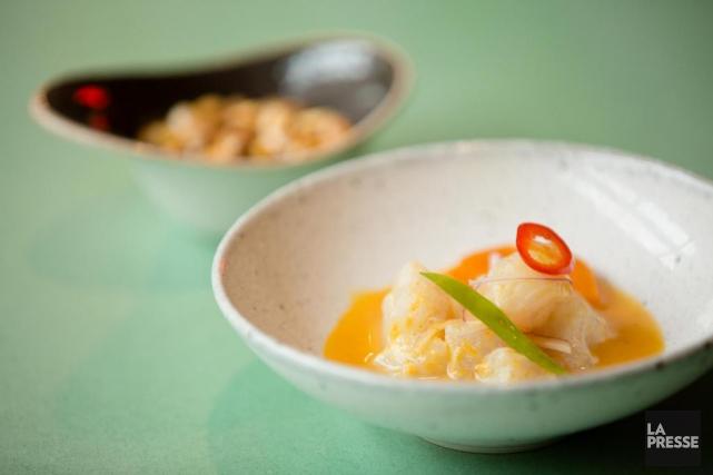 Les dumplings au canard sont aussi dodus et... (PHOTO NINON PEDNAULT, LA PRESSE)