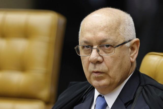 Le juge Teori Zavasckiétait responsable du volet politique... (ARCHIVES AP)