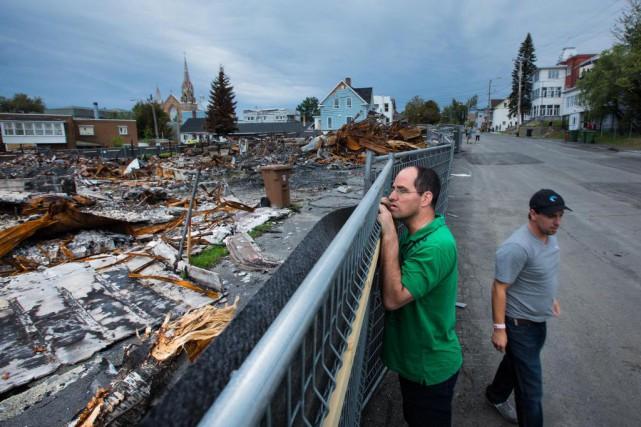 Peu de temps après la tragédie de Lac-Mégantic,... (PHOTO EDOUARD PLANTE-FRÉCHETTE, ARCHIVES LA PRESSE)