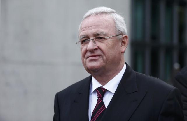 L'ancien patron du Groupe Volkswagen après avoir témoigné... (Photo REUTERS)