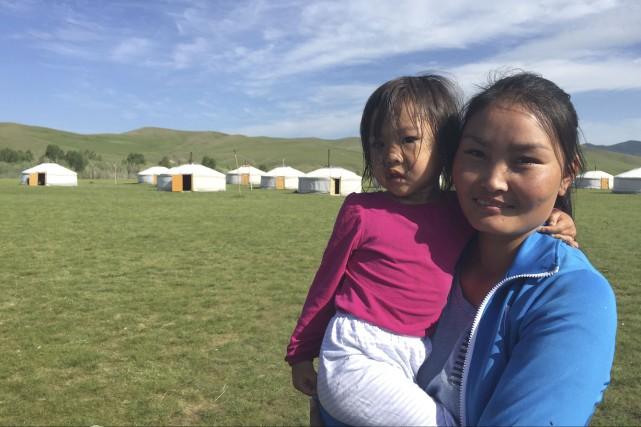 En Mongolie, le camp Orgkhon permet la création... (Fournie, Danielle Valiquette)