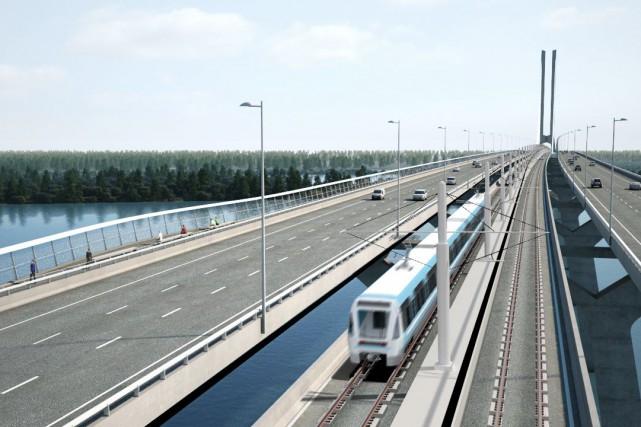 Selon la coalition,le train électrique ne semble pas... (IMAGE FOURNIE PAR CDPQ INFRA)