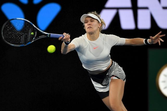 Eugenie Bouchard n'était qu'à quelques points d'atteindre le... (AFP, William West)