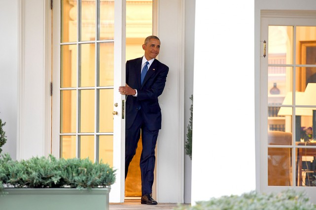 Barack Obama a quitté le Bureau Ovale pour... (PHOTO JIM WATSON, AFP)