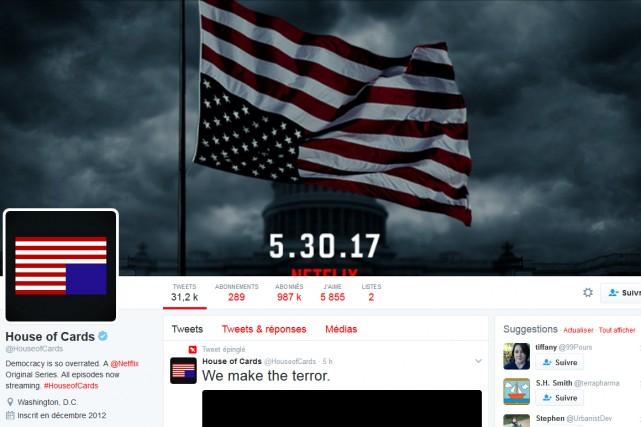 Le compte Twitter de l'émission a affiché une... (CAPTURE D'ÉCRAN)