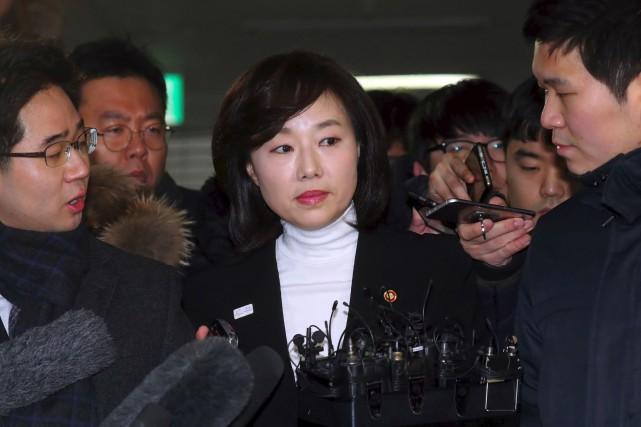 Le ministre de la culture sud-coréenne Cho Yoon-Sun... (PHOTO YONHAP/AFP)